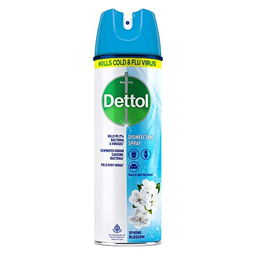 Dettol Disinfectant Spray Sanitizer for Germ Protection on Hard & Soft Surfaces, Spring Blossom, 225ml