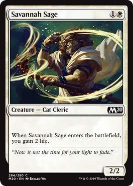 - Magic: The Gathering - Savannah Sage - Planeswalker Deck Exclusive - Core Set 2020