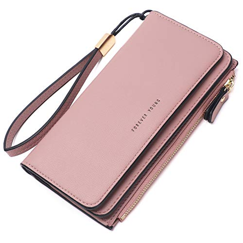 Kueh Wallets for Women Clutch Purse Trifold Long Ladies Credit Card Holder Organizer