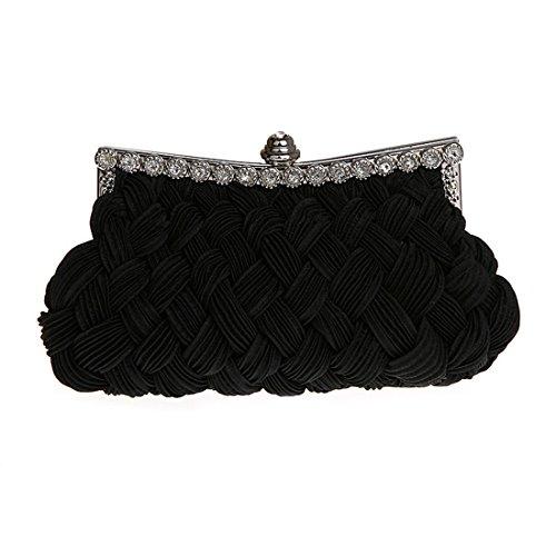 HT Evening Bag - Cartera de mano para mujer negro