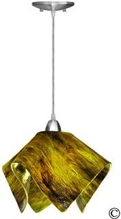 product image for Jezebel Signature Flame Pendant Large. Hardware: Nickel. Glass: Treebark