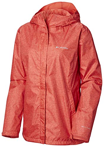 Columbia Women's Arcadia Jacket, Red Coral Scratch Texture Print, ()