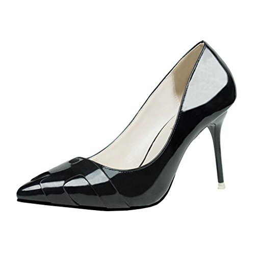 Bout Enfiler Pointu Femme Binying Noir Aiguille Escarpins a RnwEq81FCx