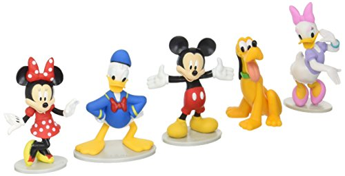 Just Play Disney Mickey Mouse Collectible Figure Set (Mickey, Minnie, Daisy, Donald, and Pluto)]()