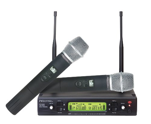 Hisonic HSU482H 48-Channel Dual UHF 600MHz Wireless Microphone, FCC Certified