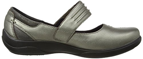 Acolchados - Zapatos Planos Mary Jane, Mujer, Gris (peltre), 39 (6 Uk)