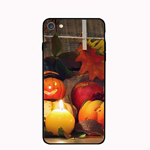 Halloween Pumpkin Floral Print PC Cellphone case for Phone 7/8 ()
