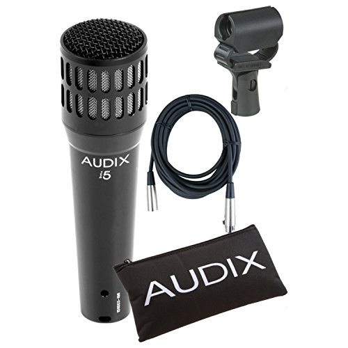 Audix i5 Microphone Bundle w/ Mic Clip, Pouch, XLR Cable, and Shock Mount Mic Clip!