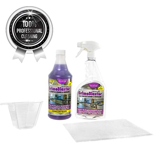 GrimeBlaster Industrial Strength All-purpose Cleaner & Degreaser - Cleans Ovens, Glass Stove Tops, Cooktops, Laundry, Grills, Automotive & More, Non-Toxic