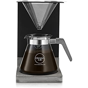 """Osaka Concrete Pour-Over Coffee Station - Full Brewing Set for a Homemade Pourover - 20oz. Capacity. """"Mount Aso"""""""