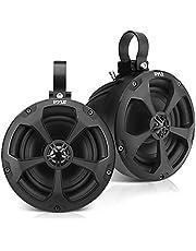 2-Way Dual Waterproof Off-Road Speakers - 5.25 Inch 1000W Marine Grade Wakeboard Tower Speakers System, Full Range Outdoor Audio Stereo Speaker for ATV, UTV, Quad, Jeep, Boat - Pyle PLUTV51BK (Black)