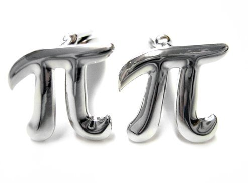 Kiola Designs Mathematical Pi Symbol Cufflinks