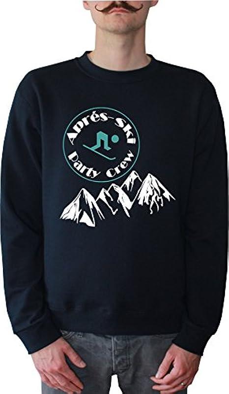 Mister Merchandise męski sweter z kapturem apré Ski – Party Crew sweter sweter z nadrukowanym: Odzież