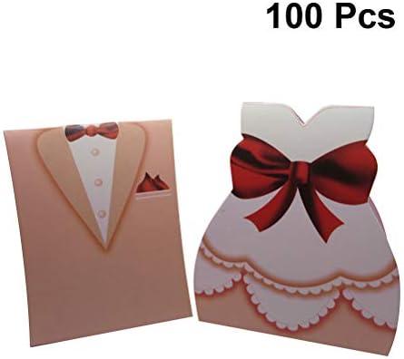 Amosfun Cajas de Dulces para Bodas Cajas de Regalo 100pcs Vestido de Esmoquin para Novios Regalo Caja de Embalaje de Chocolate para Bodas Favores del Partido: Amazon.es: Juguetes y juegos
