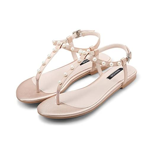 De Verano Zapatos Zcjb Mujer Correa Planos TKJcF15lu3