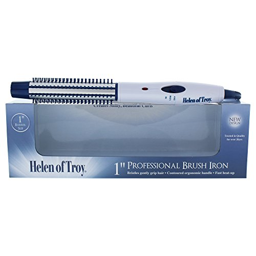 Helen of Troy 1517 Brush Iron, White, 1 Inch Barrel