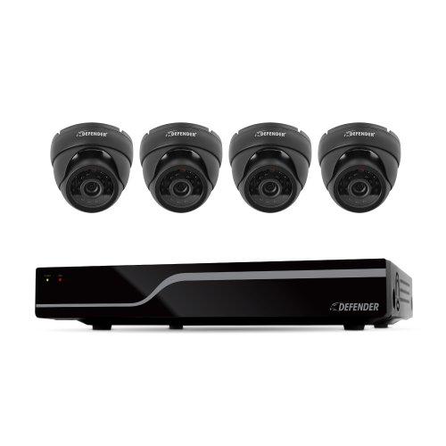 Defender Sentinel 8CH 500GB Smart Security DVR Including 4 Ultra Hi-Res Indoor/Outdoor Cameras with 65ft Night Vision,21062