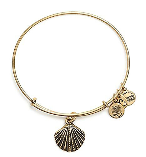 Alex and Ani Sea Shell Charm Bangle Rafaelian Gold Finish Bracelet, A11EB114RG (Gold Seashell Bracelet)