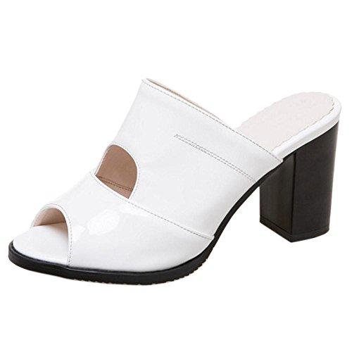 AicciAizzi Women Block Block Block Heel Mules Open Toe B07BH2123X Shoes 3c7c2e