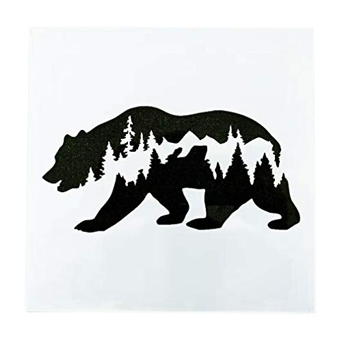 OBUY Forest Bear DIY Craft Hollow Layering Stencils for Painting on Wood, Fabric, Walls,Decorative, Airbrush + More | Reusable 7.87x 7.87 inch Mylar Template]()