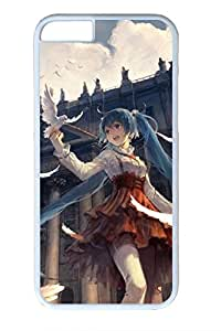Anime Girl 2 Cute Hard Cover For iPhone 6 Case (4.7 inch) PC White Cases