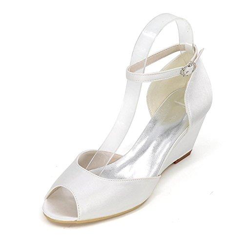 Peep pour Sandales Chaussures Elegant white Multicolore Talon femmes Stiletto Toe Mariage g7wX6qF