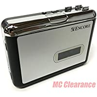 Encore 2040 Casette Tape to MP3 Converter Casette Player with 3.5 Earphone Socket, Remailer