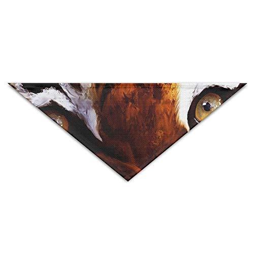 GMSCPET Eyes Tigers Painting Art Triangle Pet Scarf Dog Bandana Pet Collars for Dog Cat - Birthday ()