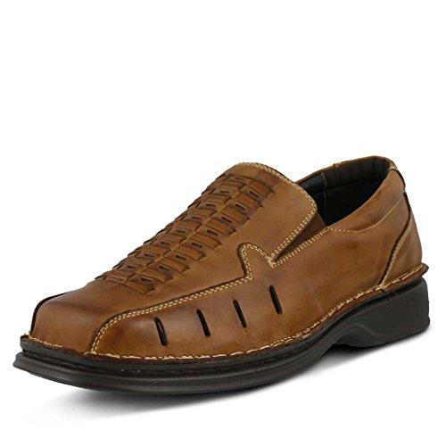 Slip Mens Brown Medium On Spring Leather Alex Step qttUB
