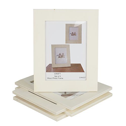 Unfinished Solid Wood Photo Picture Frames 5x7 Inch Ready to Paint for DIY Projects Set of (Plaque 8x10 Photo)