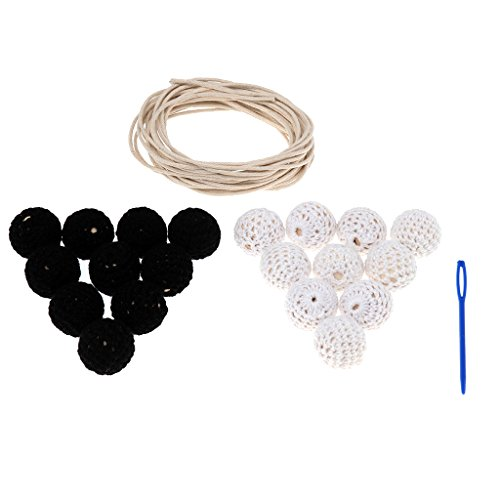 - MagiDeal Wooden Beads Crocheted Chewable Nursing Teething Beads Baby Teether Toy