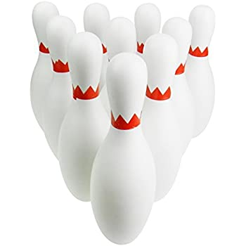 NiGHT LiONS TECH Standard 12-Piece Toy Bowling Play Set with 10 Pins, 2 Bowling Balls and 1 Zipper Bag (Colors Vary)
