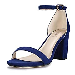 Every woman wants to have one pair of shoes which is unique and attractive. How about you? If so, this pair will be a good choice for you. The trendy sandals are designed durable, anti-slip, mid chunky heeled and solid color. It's made with a...