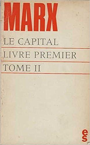 Le Capital Livre Premier Tome 2 Karl Marx Amazon Com Books