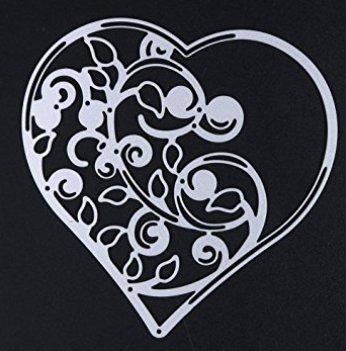 XBY.mi 1PCS Fatto a mano Artigianato FAI DA TE in acciaio al carbonio coltello a mano film di carta Die cuore