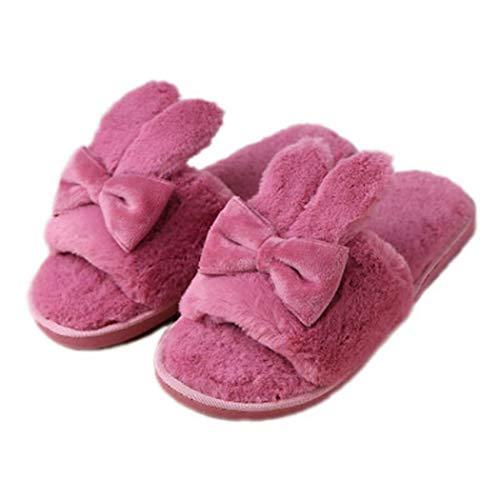 Flop Per Pavimento E Pantofole Deep Pink Coppia Peluche Interno Flip Candy Uomo C Di Home In Da Indoor Skid Donna Primavera Legno Sandali Scarpe Colore qEnft0t
