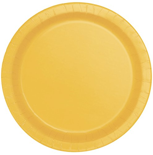 Yellow Round Dinner Plate - Yellow Paper Plates, 16ct