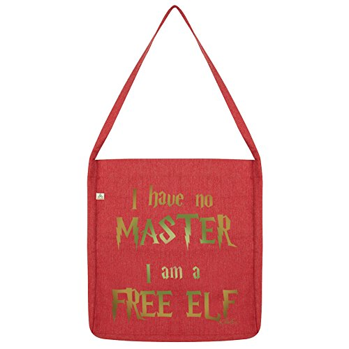 Twisted Envy I Have No Master, I Am A Free Elf Tote Bag Red
