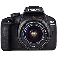 Canon EOS 4000D EF-S 18-55mm III Lens with Tripod, DSLR Bag and 16GB SDHC Memory Card