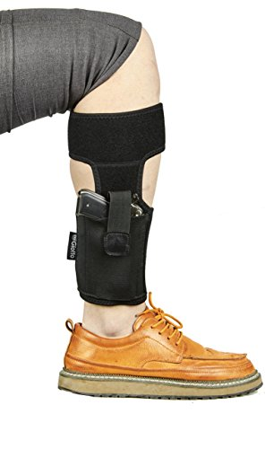 Giotto-Ankle-Holster-with-Neoprene-Padding-for-Concealed-Carry-with-Elastic-Retention-Strap-Magazine-Pouch-for-Women-Men-Fits-for-Pistols-Handguns-Revolvers