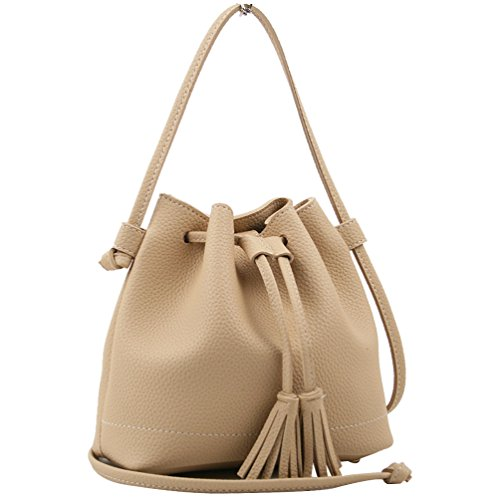 Copi Women's Everyday Bucket Bag & Cute Feminine Of Crossbody Small Bags Beige (Bucket Beige)
