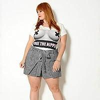 Camiseta Plus Size Free The Nipple Off White