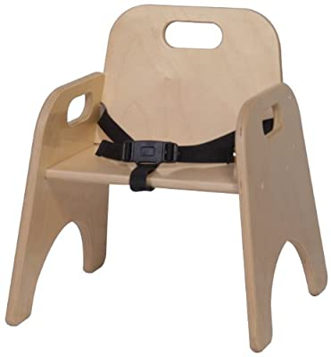 Steffy Wood Products 9-Inch Toddler Chair with Strap