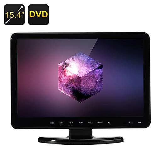 15.4 Inch Full HD LCD Monitor + DVD Player (Remote, 1920x1080, TV, VGA/HDMI/USB/SD Card In) B07BLM59KY