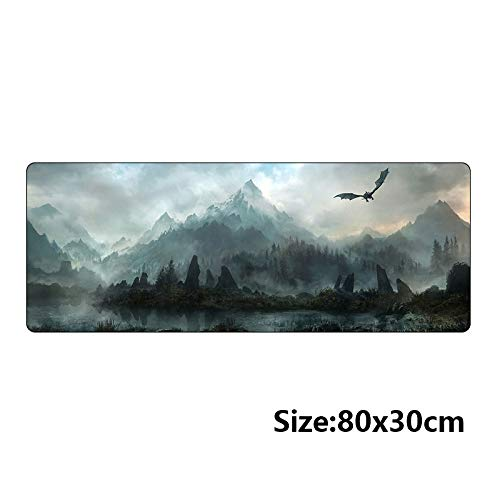 Price comparison product image Gold Happy 80x30cm Popular host computer stand-alone game mouse pad for the elder scrolls v skyrim large gaming mousepad 800300mm