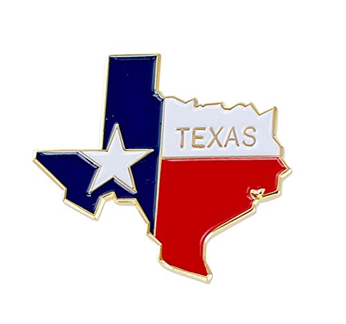 (Forge State Shape of Texas and Texas Flag Lapel Pin (25 Pins))