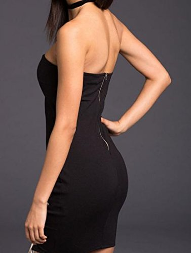 Coolred Des Femmes De Bandage De L'épaule Bustier Moulante Mini Robe Sexy Noire