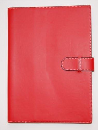 rot Collins 7201-RED Aktenmappe mit Verschlussriemen und Wiro Notizblock
