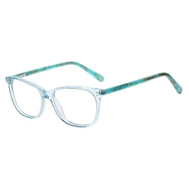 7cddde5d7a5d Teens Children Kids Glasses with Square Clear Lens for Boys Girls Gray Pink  (Age 5