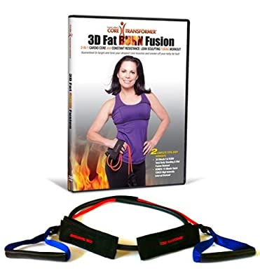 Core Transformer 3D Fat Burn Fusion DVD Kit with Band